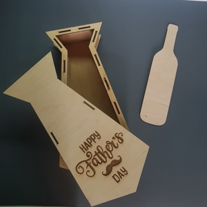 Egyedi boros doboz, Otthon & Lakás, Konyhafelszerelés, Bortartó, Famegmunkálás, Szeretnéd megajándékozni szeretteidet, barátaidat egy egyedi ajándékkal? Ne keresgélj tovább ,személ..., Meska