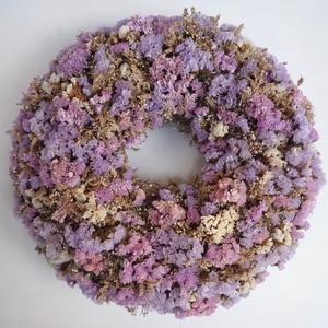 Vintage sóvirág  ajtódísz kopogtató, Otthon & lakás, Lakberendezés, Ajtódísz, kopogtató, Vegyes sóvirágból  készítettem ezt a vintage stílusú ajtódíszt. Átmérője kb. 30 cm, beltérre ajánlom..., Meska