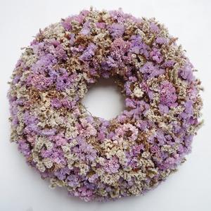 Vintage sóvirág koszorú, Ajtódísz & Kopogtató, Dekoráció, Otthon & Lakás, Virágkötés, Vegyes sóvirágból  készítettem ezt a vintage stílusú ajtódíszt.\nÁtmérője kb. 30-32 cm, beltérre aján..., Meska