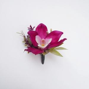Vőlegény orchidea kitűző, Esküvő, Kiegészítők, Virágkötés, Meska