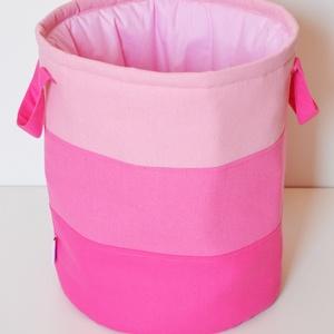 Rózsaszín színátmenetes játéktároló, Játéktároló, Tárolás & Rendszerezés, Otthon & Lakás, Varrás, Egyedi tervezésű gyermek játéktároló.\nHasznos segítség a gyermekek játékainak tárolására, és egyben ..., Meska