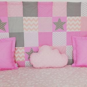 Csillagos rózsaszín patchwork falvédő, Otthon & lakás, Dekoráció, Gyerek & játék, Gyerekszoba, Falvédő, takaró, Varrás, Csillagos rózsaszín patchwork falvédő. \nEgyedibbé, vidámabbá és egyben komfortosabbá teszi a gyereká..., Meska