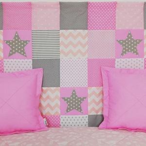 Csillagos rózsaszín patchwork falvédő (decokid) - Meska.hu