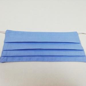 Világoskék 2 rétegű pamut szájmaszk, Táska, Divat & Szépség, Szépség(ápolás), Egészségmegőrzés, Maszk, szájmaszk, Varrás, Igényesen elkészített, 2 rétegű, 100% pamut öko-textilből készült, gumis rögzítésű szájmaszk. \nA mas..., Meska