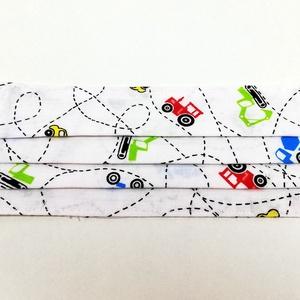 Fehér autó mintás gyerek 2 rétegű pamut szájmaszk, Táska, Divat & Szépség, Szépség(ápolás), Egészségmegőrzés, Maszk, szájmaszk, Varrás, Igényesen elkészített, 2 rétegű, 100% pamut öko-textilből készült, gumis rögzítésű szájmaszk. \nKb. 5..., Meska
