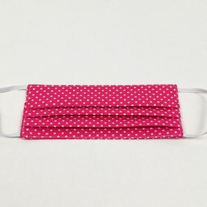 Pink pöttyös gyerek 2 rétegű pamut szájmaszk, Táska, Divat & Szépség, Szépség(ápolás), Egészségmegőrzés, Maszk, szájmaszk, Varrás, Igényesen elkészített, 2 rétegű, 100% pamut öko-textilből készült, gumis rögzítésű szájmaszk. \nKb. 5..., Meska