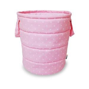 Rózsaszín színű fehér csillagos játéktároló, Játéktároló, Tárolás & Rendszerezés, Otthon & Lakás, Varrás, Kedves Érdeklődők, Vásárlók! \nA rendkívül megemelkedett rendelésszámra tekintettel jelenleg és az év..., Meska