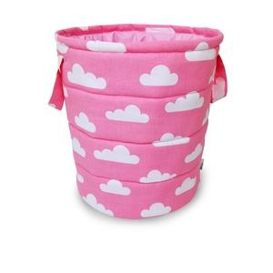 Felhő mintás rózsaszín játéktároló, Játéktároló, Tárolás & Rendszerezés, Otthon & Lakás, Varrás, Kedves Érdeklődők, Vásárlók! \nA rendkívül megemelkedett rendelésszámra tekintettel jelenleg és az év..., Meska
