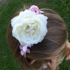 Kislány, koszorúslány hajpánt, Gyerek & játék, Táska, Divat & Szépség, Hajbavaló, Ruha, divat, Hajpánt, Virágkötés, Esküvőre vagy fotózásra készültök a kislányoddal? Szeretnéd elegánsabbá tenni megjelenését? Remek me..., Meska