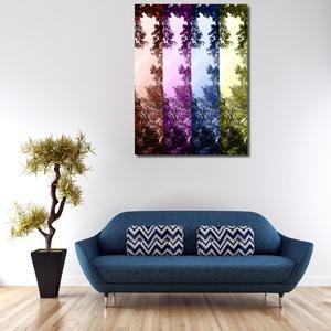 Ágak-pop-art stílusban-Vászonkép, Otthon & Lakás, Dekoráció, Kép & Falikép, Fotó, grafika, rajz, illusztráció, Különleges hangulatú és színvilágú, saját fotóból, egyedileg szerkesztett, magas minőségű, UV álló, ..., Meska