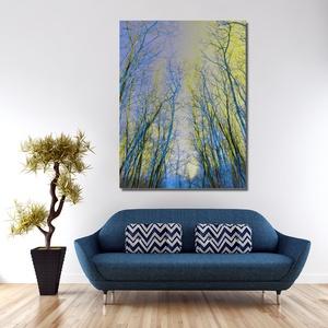 Sárga-szürke és kék fák - Yellow-grey and blue trees - Meska.hu