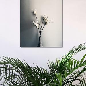 Fehér virág vászonkép-White flower canvas, Otthon & Lakás, Dekoráció, Kép & Falikép, Fotó, grafika, rajz, illusztráció, Meska