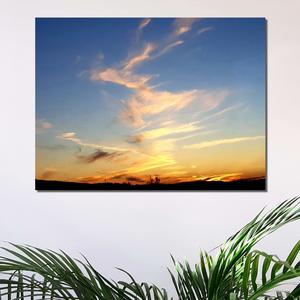 Narancs égbolt-Vászonkép, Otthon & Lakás, Dekoráció, Kép & Falikép, Fotó, grafika, rajz, illusztráció, A vászonkép témája, a nyári naplemente, égszínkék égbolttal és narancs színű felhőkkel.\nKellemes, vi..., Meska