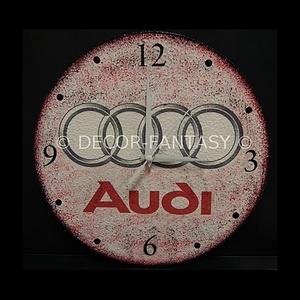 AUDI emblémával díszített óra audi autó rajongóknak, Falióra & óra, Dekoráció, Otthon & Lakás, Decoupage, transzfer és szalvétatechnika, AUDI emblémával díszített óra ( 30 cm átmérő ) audi autó rajongóknak\nA saját autód fotójával is elké..., Meska