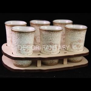 Évfordulós pohárszett , Tálalás, Dekoráció, Esküvő, Decoupage, transzfer és szalvétatechnika, EGYEDI megrendelésre készült esküvői pohárszett ( 6 db 45 ml pohár ) \n\nIdeális ajándék eljegyzésre, ..., Meska
