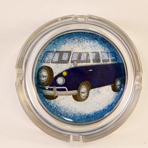 VOLKSWAGEN emblémás hamutál; A saját Volkswagen autód fényképével is!  ( T1 ), Otthon & Lakás, Díszüveg, Dekoráció, VOLKSWAGEN emblémás hamutál;  A saját Volkswagen autód fényképével is! Ajándék szülinapra,karácsonyr..., Meska