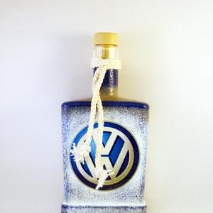 VOLKSWAGEN italos üveg ; Volkswagen autód fényképével is! , Otthon & Lakás, Díszüveg, Dekoráció, Decoupage, transzfer és szalvétatechnika, Meska