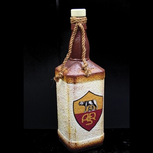 AS ROMA  emblémával díszített  pálinkás üveg ( 0,75 l üveg ) , Üveg & Kancsó, Konyhafelszerelés, Otthon & Lakás, Decoupage, transzfer és szalvétatechnika, AS ROMA  emblémával díszített  pálinkás üveg ( 0,75 l üveg ) \n\nA saját csapatod vagy csatárod fotójá..., Meska