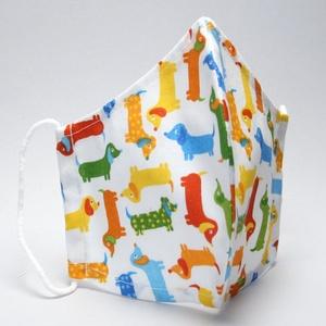 Szájmaszk -pamut szájmaszk - egészségügyi mosható szájmaszk-gyermek-felnőtt kutyás szájmaszk #  (decorfantasy) - Meska.hu