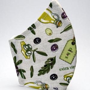 Szájmaszk -pamut szájmaszk - egészségügyi mosható szájmaszk-gyermek-felnőtt oliva  mintás  szájmaszk # (decorfantasy) - Meska.hu