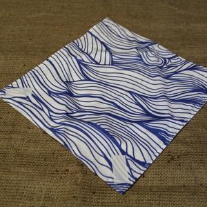 Kék-fehér újraszalvéta (30x30cm)-ÖKO környezetbarát anyagból óvodásoknak,iskolásoknak,-INGYENES SZÁLLÍTÁSSAL (decorfantasy) - Meska.hu