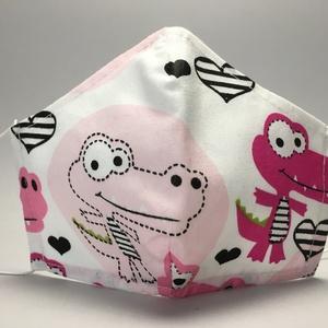 EGYEDI SZÁJMASZK-KROKODIL-egészségügyi mosható szájmaszk-gyermek-felnőtt hangszer mint. szájmaszk #  - Meska.hu