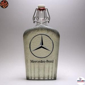 MERCEDES pálinkás csatos üveg ; Mercedes rajongóknak, Otthon & Lakás, Konyhafelszerelés, Pohár, Decoupage, transzfer és szalvétatechnika, Meska