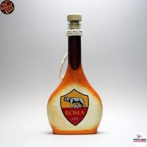 AS Roma pálinkás üveg ; futball szurkolóknak, férjnek, barátnak születésnapra, névnapra, karácsonyra, Otthon & Lakás, Konyhafelszerelés, Üveg & Kancsó, Decoupage, transzfer és szalvétatechnika, AS Roma pálinkás üveg ( 0,2l ) \n\nIgazán egyedi AS Roma szurkolói ajándék.\nA saját csapatod vagy csat..., Meska