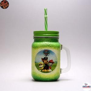 Pohár gyerekeknek, pohár fiúknak, Otthon & Lakás, Konyhafelszerelés, Pohár, Szívószálas pohár, üdítős pohár, szörpös bögre ( 0,3l )  - A mancs őrjárat mesefigurával -Paw Petrol..., Meska