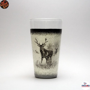 Vadász - szarvas képpel - vizes pohár ; A vadászat szerelmeseinek , Otthon & Lakás, Konyhafelszerelés, Pohár, Decoupage, transzfer és szalvétatechnika, Vadász - szarvas képpel - vizes, üdítős pohár ( 0,3 l ) A vadászat szerelmeseinek .\nSaját trófeák fo..., Meska