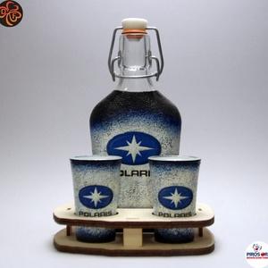 POLARIS pálinkás készlet ; Saját quadod fényképével is!, Otthon & Lakás, Dekoráció, Díszüveg, Decoupage, transzfer és szalvétatechnika, Meska