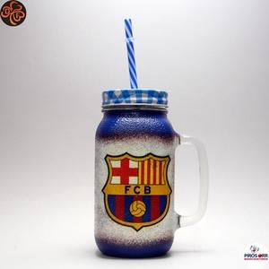 FC Barcelona szívószálas bögre ; foci szurkoló fiúknak, gyerekeknek, Otthon & Lakás, Konyhafelszerelés, Pohár, Decoupage, transzfer és szalvétatechnika, FC Barcelona szívószálas bögre, üdítős pohár,  ( 0,5l ) \n\nIgazán egyedi FC Barcelona szurkolói ajánd..., Meska
