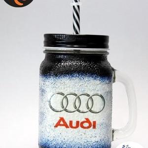 Audi üdítős pohár ; Audi rajongóknak, Otthon & Lakás, Dekoráció, Díszüveg, Decoupage, transzfer és szalvétatechnika, Audi  üdítős, vizes pohár ( 0,3l ) \n\nA saját autód fotójával is elkészítjük. \nIgazi egyedi autós ajá..., Meska