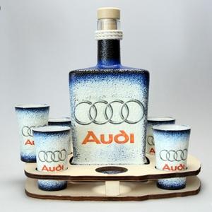 Audi whiskys készlet ; Saját Audi autód fotójával is elkészítjük.  (decorfantasy) - Meska.hu