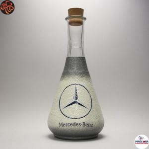 MERCEDES bor kiöntő ; Mercedes rajongóknak, férjeknek, barátoknak, Otthon & Lakás, Konyhafelszerelés, Pohár, Decoupage, transzfer és szalvétatechnika, Meska