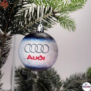 Audi karácsonyfadísz ajándék férj, barát, nagyapa, audi autósnak, Karácsony & Mikulás, Karácsonyfadísz, Decoupage, transzfer és szalvétatechnika, Karácsonyfadísz Audi emblémával 7,5 cm ajándék férj, barát, nagyapa, audi rajongó részére\n\nIgazán eg..., Meska