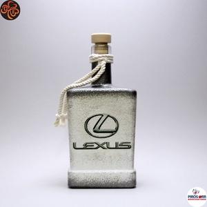 LEXUS italos üveg; autó rajongó férfiaknak, Otthon & Lakás, Dekoráció, Díszüveg, Decoupage, transzfer és szalvétatechnika, Meska