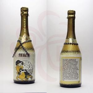 IKREK Horoszkóp ajándék pezsgő, Otthon & Lakás, Dekoráció, Díszüveg, Decoupage, transzfer és szalvétatechnika, Meska