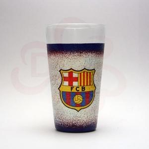 FC Barcelona üdítős pohár ; Barcelona foci szurkoló fiúknak, gyerekeknek, Otthon & Lakás, Konyhafelszerelés, Pohár, Decoupage, transzfer és szalvétatechnika, Meska