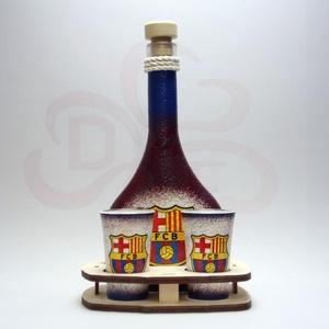 FC Barcelona italos készlet; Barcelona futball szurkolóknak, Otthon & Lakás, Dekoráció, Díszüveg, Decoupage, transzfer és szalvétatechnika, Meska