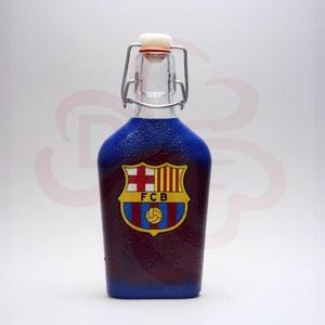 FC Barcelona kis csatosüveg ; Barcelona futball szurkolóknak, Otthon & Lakás, Dekoráció, Díszüveg, Decoupage, transzfer és szalvétatechnika, Meska