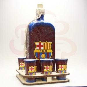 FC Barcelona party italos készlet; Barcelona futball szurkolóknak, Otthon & Lakás, Dekoráció, Díszüveg, Decoupage, transzfer és szalvétatechnika, Meska