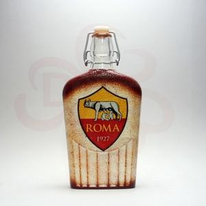 AS Roma emblémás csatosüveg ; As Roma foci kedvelő férfiaknak, Otthon & Lakás, Konyhafelszerelés, Üveg & Kancsó, Decoupage, transzfer és szalvétatechnika, AS Roma csatosüveg ( 0,5l ) \n\nIgazán egyedi AS Roma szurkolói ajándék.\nA saját csapatod vagy csatáro..., Meska