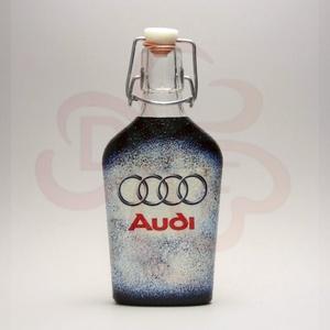 Audi csatosüveg ; Audi rajongóknak, Otthon & Lakás, Dekoráció, Díszüveg, Decoupage, transzfer és szalvétatechnika, Audi csatosüveg  ( 0,2l )\n\nA saját autód fotójával is elkészítjük. \nIgazi egyedi Audi autós ajándék ..., Meska