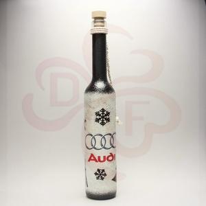 Audi adventi pálinkásüveg ; Audi rajongóknak - Meska.hu