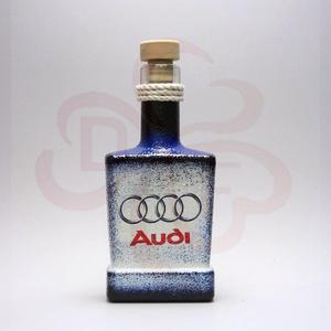 Audi whiskys üveg ; Audi rajongóknak, Otthon & Lakás, Dekoráció, Díszüveg, Decoupage, transzfer és szalvétatechnika, Audi whiskys üveg ( 0,2l ) audi rajongóknak\n\nA saját autód fotójával is elkészítjük. \nIgazi egyedi a..., Meska