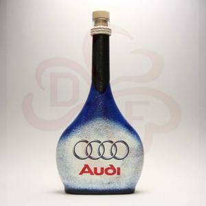 Audi italos üveg ; Audi rajongóknak, Otthon & Lakás, Dekoráció, Díszüveg, Decoupage, transzfer és szalvétatechnika, Audi italos üveg ( 0,5l ) audi autó rajongóknak\n\nA saját autód fotójával is elkészítjük. \nIgazi egye..., Meska