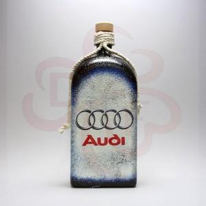 Audi pálinkás üveg ; Audi rajongóknak, Otthon & Lakás, Dekoráció, Díszüveg, Decoupage, transzfer és szalvétatechnika, Audi pálinkás üveg ( 1l ) audi rajongóknak\n\nA saját autód fotójával is elkészítjük. \nIgazi egyedi Au..., Meska