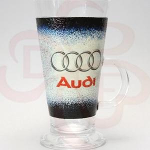 Audi kávés pohár ; Audi rajongóknak, Otthon & Lakás, Konyhafelszerelés, Pohár, Decoupage, transzfer és szalvétatechnika, Audi kávés, Latte-s pohár - kávé imádóknak ( 0,26l ) audi autó rajongóknak\n\nA saját autód fotójával ..., Meska