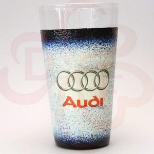 Audi üdítős pohár ; Audi rajongóknak, Otthon & Lakás, Dekoráció, Díszüveg, Decoupage, transzfer és szalvétatechnika, Audi  üdítős, vizes pohár ( 0,3l ) audi autó rajongóknak\n\nA saját autód fotójával is elkészítjük. \nI..., Meska